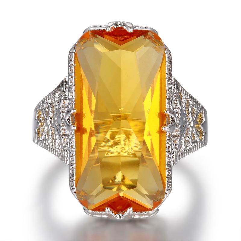 Wong Rain, винтажное, серебряное, 100% 925 пробы, огромный цитрин, драгоценный камень, обручальное кольцо, хорошее ювелирное изделие, оптовая продаж...