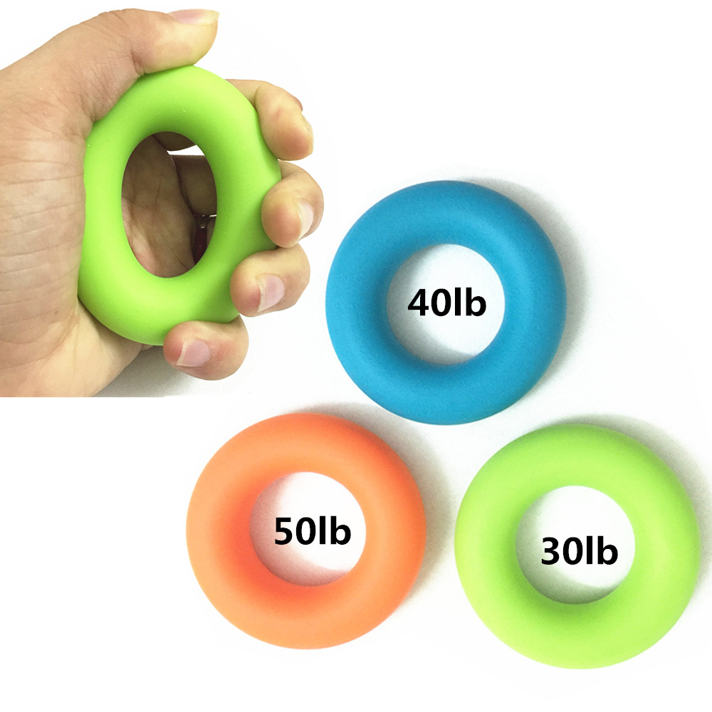 1pc Silicone Donuts Fitness Hand Expander Gripper Strengthener Forearm Wrist Finger Exerciser Trainer Stress Relief Hand Therapy image