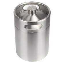 304 Stainless Steel 5L Mini Keg Beer Pressurized Growler Portable Beer Bottle Home Brewing Beer Making Tool(China)