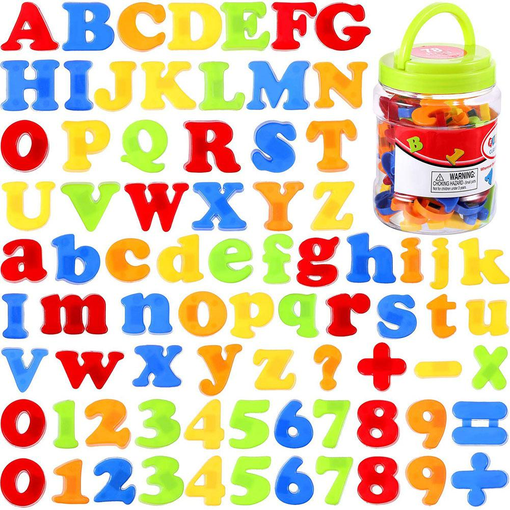 None 78pcs/set Magnetic Letters Numbers For Kids Educational Alphabet Refrigerator Magnets