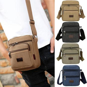 Men's Fashion Travel Cool Canvas Bag Men Messenger Crossbody Bags Bolsa Feminina Shoulder Bags Pack School Bags for Teenager New