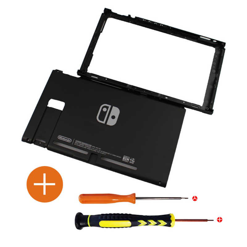 Substituição placa frontal superior & inferior para nintend switch ns game console caso habitação df