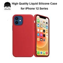 Hohe Qualität Magnetische Silikon Fall mit MagSafe für iPhone 12 Pro Mini Max Obst Logo