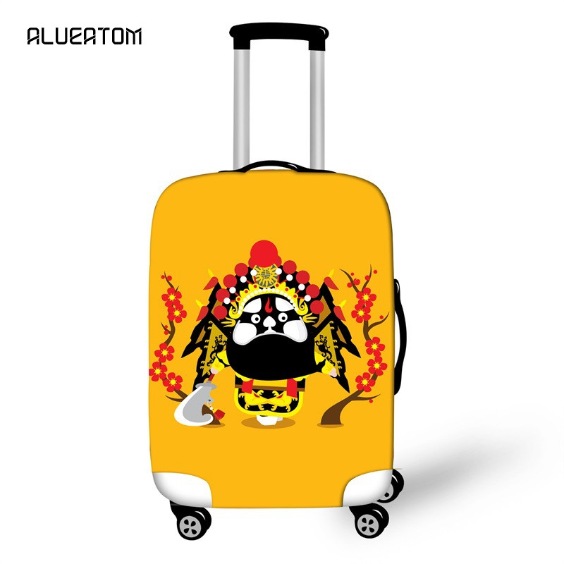 New Arrival China Peking Opera Gothic Skull Travel Suitcase Cover For 18 -32 Inch Luggage Punk Skeleton Trolley Case Covers