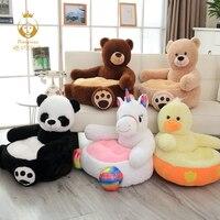 1PCS Cartoon Unicorn Panda Bear Plush Stuffed Toy Children's Sofa Chair Lazy Sofa Tatami Baby Sofa Stool Christmas Gift