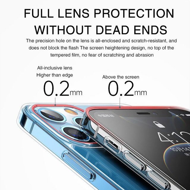 Ultra Thin Lens Protection Case For iPhone 12 Mini 11 Pro Max XR X Xs Max 6 7 8 Plus SE 2020 Soft Clear Silicone Case Back Cover 4