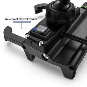 Image 3 - Moto in metallo Supporto Del Telefono Cellulare Impermeabile per Moto Manubrio Specchio Del Basamento Del Telefono con CONTROLLO di QUALITÀ 3.0 Caricatore USB Presa di Montaggio