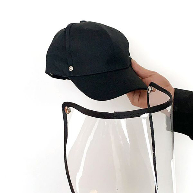 Eyes Protection Hat with Anti-saliva Face Cover Mask Baseball Cap Dustproof Protective Cap Adjustable Face Shield Safe Isolation 2