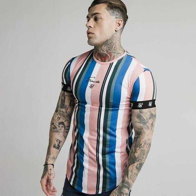 Camiseta SikSilk de verano para hombre, camiseta de seda y seda, camisetas divertidas y cortas con cuello redondo para hombre, camisetas Sik Silk para hombre