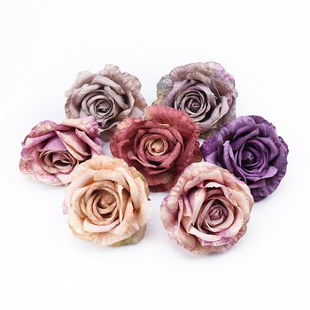 1/5 Pcs 10cm Roses head wedding bridal accessories clearance decorative flowers christmas decoration for home artificial flowers image