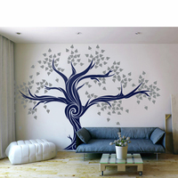 DIY Large Tree Wall Decals Unique Living Room Decal Custom Color Tree Wall Decal Vinyl Bedroom Home Decoration Wallpaper LC1431