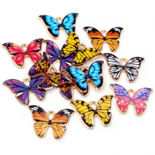 Butterfly Charms Necklace Jewelry-Making-Accessories Bracelet Diy Pendant Enamel Metal