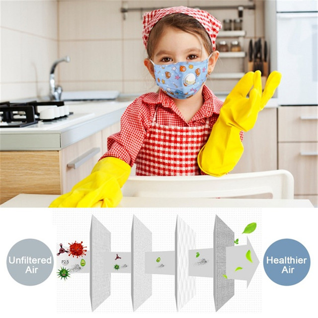Children Face Mouth Mask 1Pcs Dust Reusable Breathable Protective Kid PM2.5 Mascherine Filter Mascaras Respirator Tapabocas 5