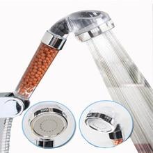 Bath Shower Adjustable Jetting Shower Head High Pressure Saving Water Bathroom Anion Filter Shower SPA Nozzle