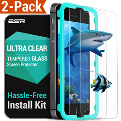 Screen Protector for iphone SE, ESR [2Pack] Easy Install Tempered Glass Screen Protector with Free Applicator for iphone 5s/SE/5