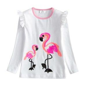 Image 3 - VIKITA/комплекты одежды для девочек футболка с длинными рукавами и рисунком Фламинго + платье пачка комплект детской одежды из 2 предметов RESETLH4591