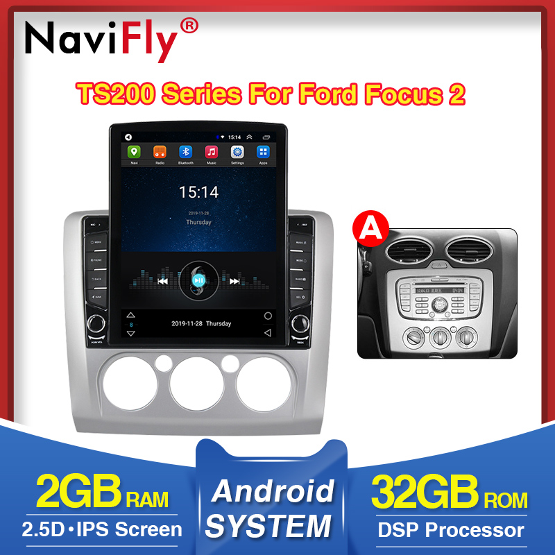 NaviFly Vertical Tesla Screen For Ford Focus 2 Fiesta Mondeo 4 C-Max S-Max Fusion Transit K With DSP Car Multimedia Player WIFI