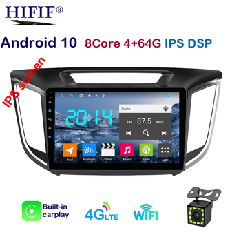 Car Android 10 4G RAM 64G ROM Car Radio Multimedia Player GPS Navigation For hyundai ix25 creta 2015-2018 2din video Playe image