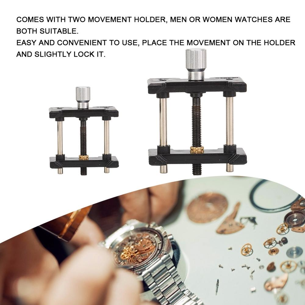 2pcs/Set Watch Movement Holder Fixed Base Plastic Multi-Function Clamp Watch Repairing Jewelry Making Tool Kit for Watchmaker