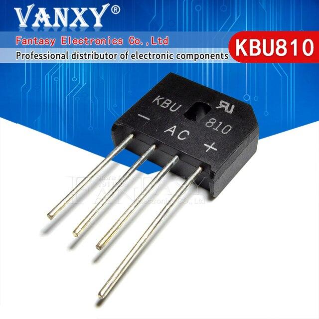 10 adet KBU810 KBU 810 8A 1000V diyot köprüsü doğrultucu yeni ve orijinal IC