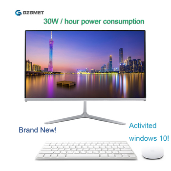 23.6 Inch All In One Pc Windows 10 Computer Intel I3 I5 Core Wifi Desktop Pc Lcd Screen with Keyboard Mouse