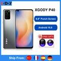 XGODY P40 смартфон с четырёхъядерным процессором, Android 10, 6,8 дюйма, 19:9, 3000 мАч, 1 ГБ, 8 ГБ, 5 МП, GPS, WiFi, 3G, мобильный телефон с двумя sim-картами