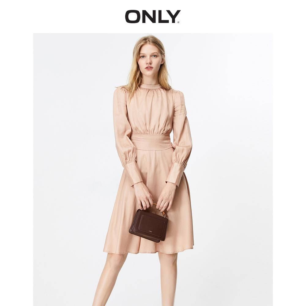 ONLY Women's Slim Fit Cinched Waist Long-sleeved Dress | 119307590