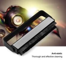 Fibra de carbono fonógrafo alça de áudio macio limpador esfregando anti estático turntables almofada disco vinil escova limpeza ferramenta