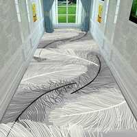 Tapis de couloir de luxe tapis d'escalier modernes tapis de cuisine longue tapis de sol d'hôtel pour couloir allée tapis et tapis nordiques