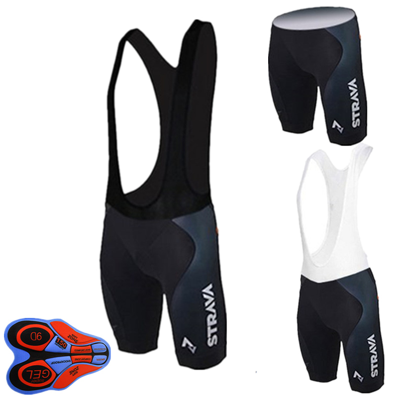 STRAVA 2019 Summer 9D Gel Pad Bib Road Bike Bicycle Short Breathable Anti-skid 100% Lycra High Elastic Cycling Bib Shorts