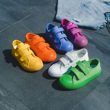 Casual Girls Boys Canvas Shoes Printed Leopard Solid Fashion Children Non-slip Autumn Kids Sneakers Spotrt kids