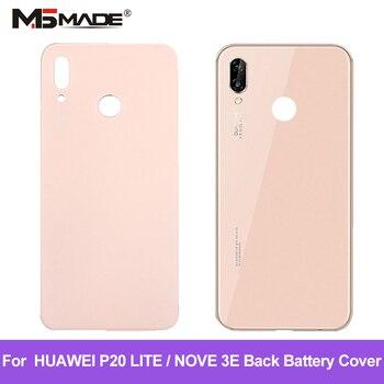Original For Huawei P20 Lite Battery Cover + Camera Glass Lens For Huawei nova 3e Back Door Replacement Parts