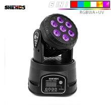 2Pcs New LED Moving Head Lifght 5x18W RGBWPA 6in1 DMX Wash Light Mini Stage Light 5*18w Lamp For DJ Club Projector Disco 10/15CH цены онлайн