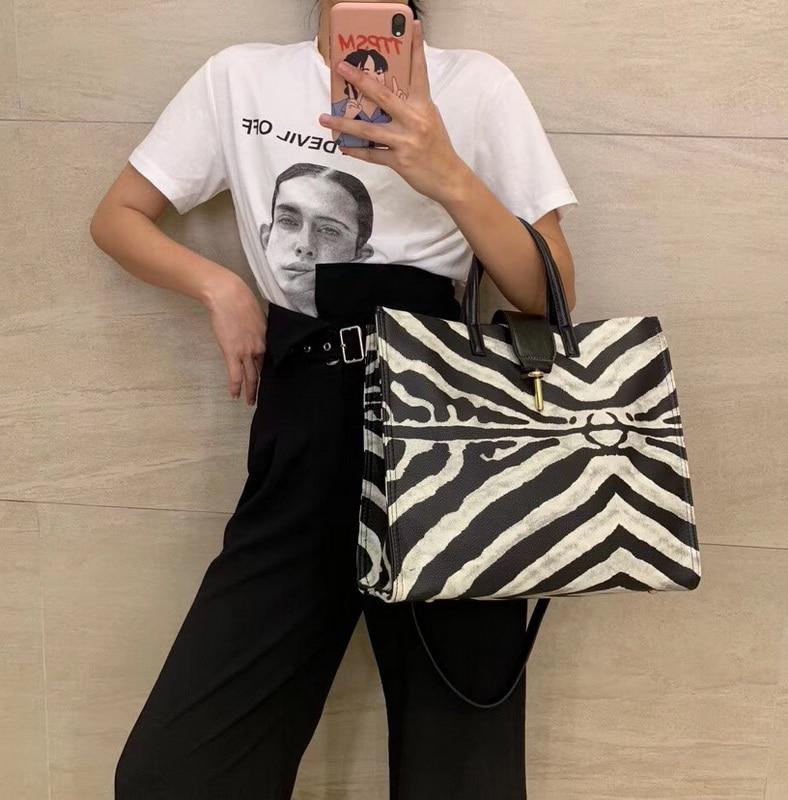 Faux Leather Plus Size Bag Handbag Zebra-stripe 2020 Fashion Animal Print