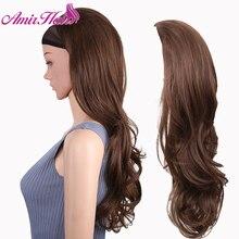 Synthetic-Hair Blonde Wig Black Half-Wig Women Hair-Extension Brown High-Temperature-Fiber