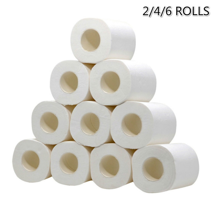 10 Rolls Soft Toilet Paper Tissue 3-layer Household Rollss Paper Without Adjunct Non-Smell Home Bathroom Kitchen Accessories