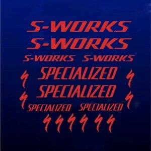 Новый S-works стикер на раму велосипеда s специализируется на шоссейном горном велосипеде MTB DH XC велосипедная стойка Наклейка Виниловая наклей...