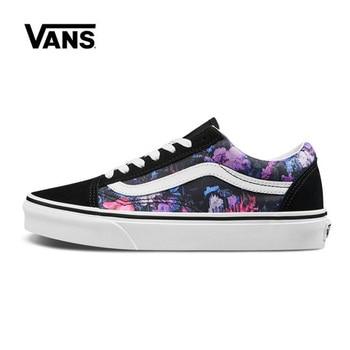 цена на Vans Old Skool Women Shoes Flower Original Sneakers Unisex Vans Men's Shoes Skateboarding VN0A4BV5T7R