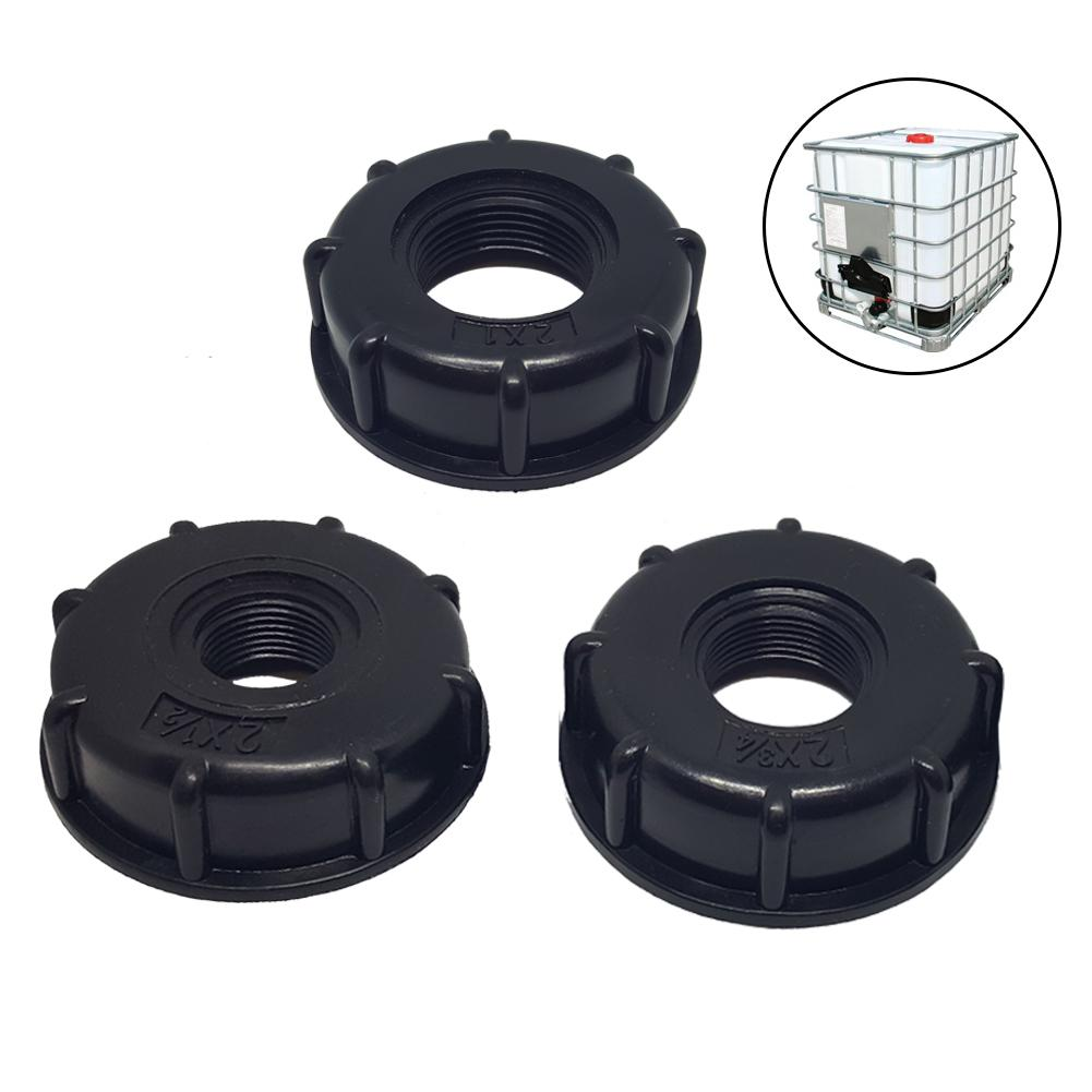 IBC Tank S60X6 Coarse Threaded Cap 1'' 1/2'' 3/4'' Adapter Connector Parts Easy To Install Simple Practical BU1593-BU1595