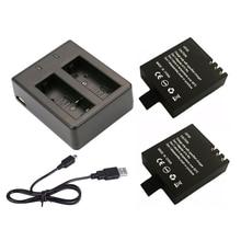 סוללה כפולה מטען + 2Pcs 1000mAh המקורי GitUP גיבוי נטענת li על סוללה עבור GitUP Git2/ git2P ספורט פעולה מצלמה