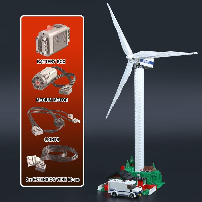 DHL 925pcs Kid schepper Toys 37004 windmolen turbine met motor functie bouwstenen compatibel met 10268 Kids Kerstmis Speelgoed-in Blokken van Speelgoed & Hobbies op  Groep 1