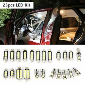 Universal 23Pcs LED T10 5050 Car Light Bulb Interior Dome Trunk License Plate Lamps Kit White For Bmw E60 E90 Golf 4 7 LED Lamp