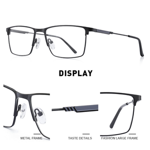 Image 2 - Merrys Ontwerp Mannen Titanium Legering Glazen Frame Bijziendheid Recept Brillen Optische Kader Stijl S2177