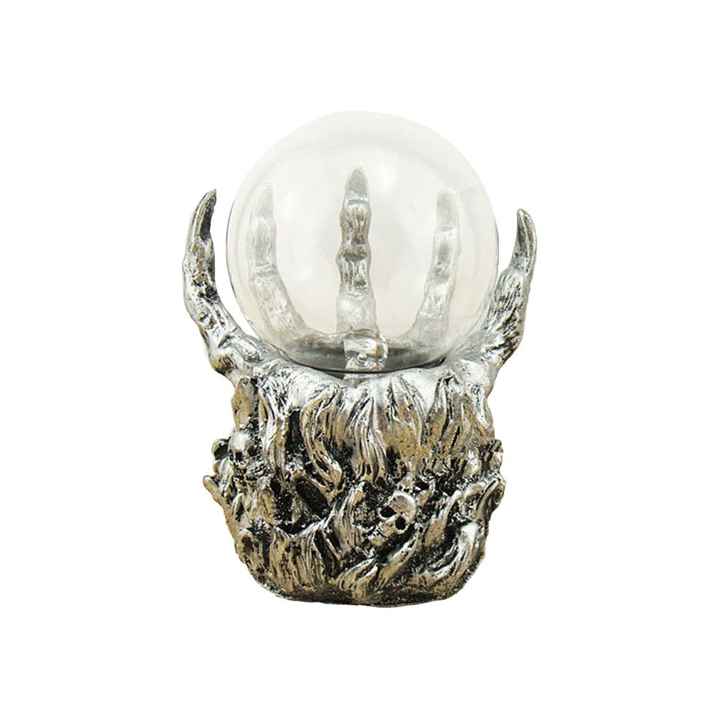 ICOCO Creative Skeleton Hand Design Electrostatic Ion Magic Ball Touch Sensor Glass Light Ball Decoration Plasma Ball