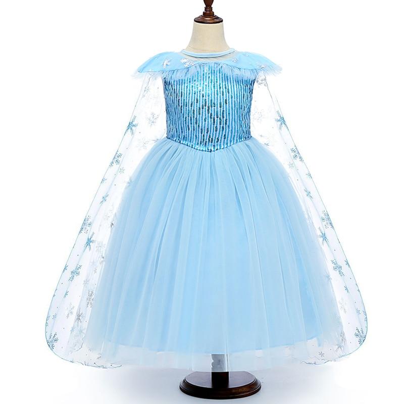 H901fef75560e4508a83a19c859cd9516f Cosplay Queen Elsa Dresses Elsa Elza Costumes Princess Anna Dress for Girls Party Vestidos Fantasia Kids Girls Clothing Elsa Set