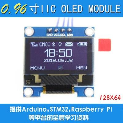 "2020 neue Design 10 Teile/los 4pin Neue 128X64 OLED LCD LED Display Modul 0.96 ""I2C IIC Kommunizieren"