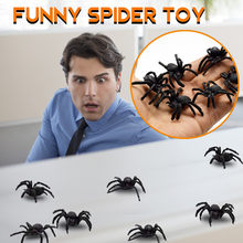 15Pcs Creative Hot selling PVC Artificial spider Insect Animal Model Funny Toys Halloween decoration spider toy Funny spoof toy(China)