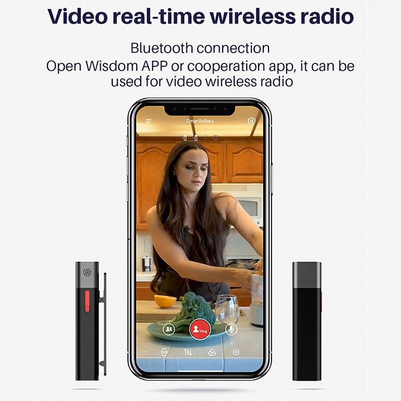 SABINETEK SmartMike + sans fil Bluetooth Vlog micro Radio en temps réel micro pour iPhone Huawei Smartphone caméra d'ordinateur vlogeur - 4