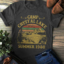 2019 super pour vente à chaude Mode Camp Crystal Lake T-shirt Vendredi 13th Chemise, Jason Voorhees Chemise H(China)