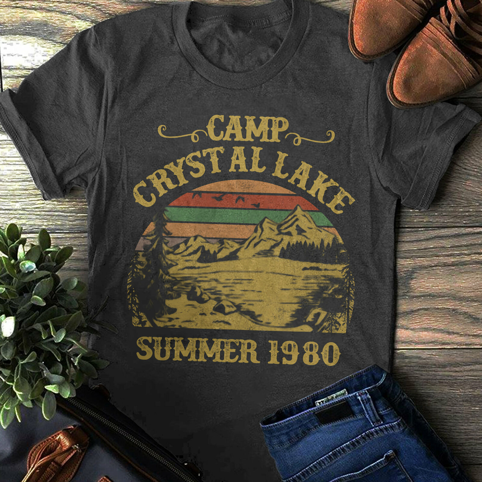 Fitness 2020 Hot Sale Super Camp Crystal Lake T-Shirt Friday The 13th Shirt Jason Voorhees Shirt Summer O Neck Clothes Camisetas image